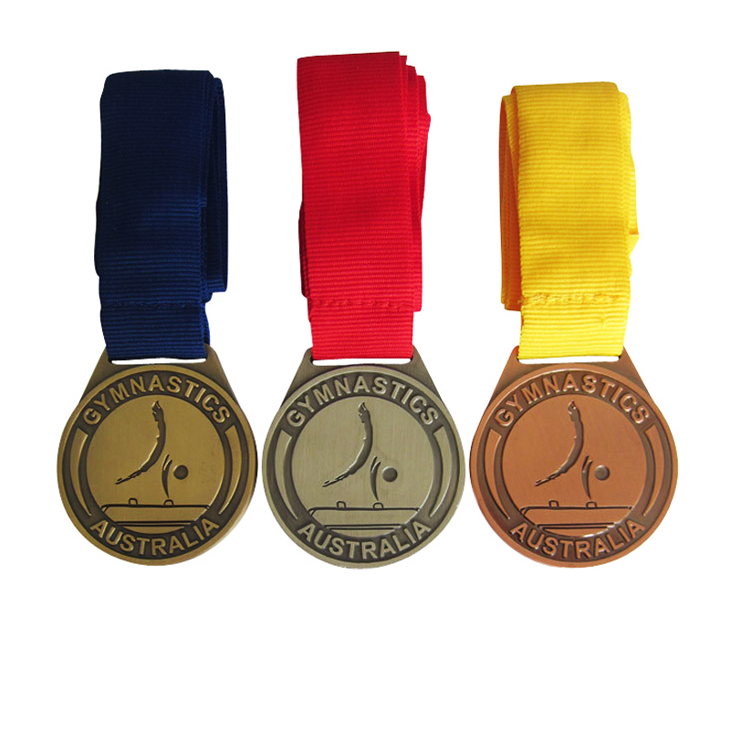 antique gold medals custom cheap High Quality silver Metal  Sport Medals low price copper tapes