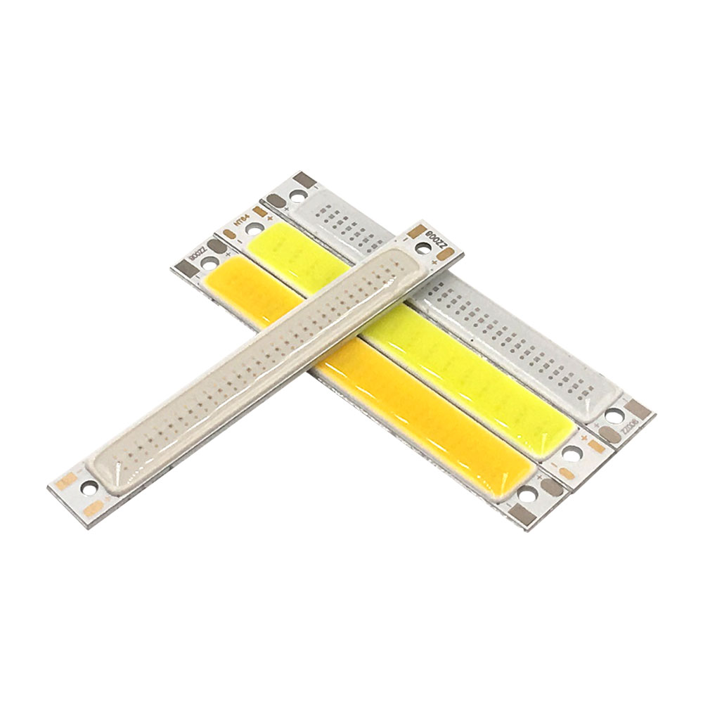 10pcs 3.7V <font><b>1W</b></font> 3W <font><b>LED</b></font> Lights COB Bulb 2V <font><b>3V</b></font> Lighting Source 60mm Strip Warm Cool White Blue Red Emitting Colors 60x8mm <font><b>LED</b></font> Bulb image