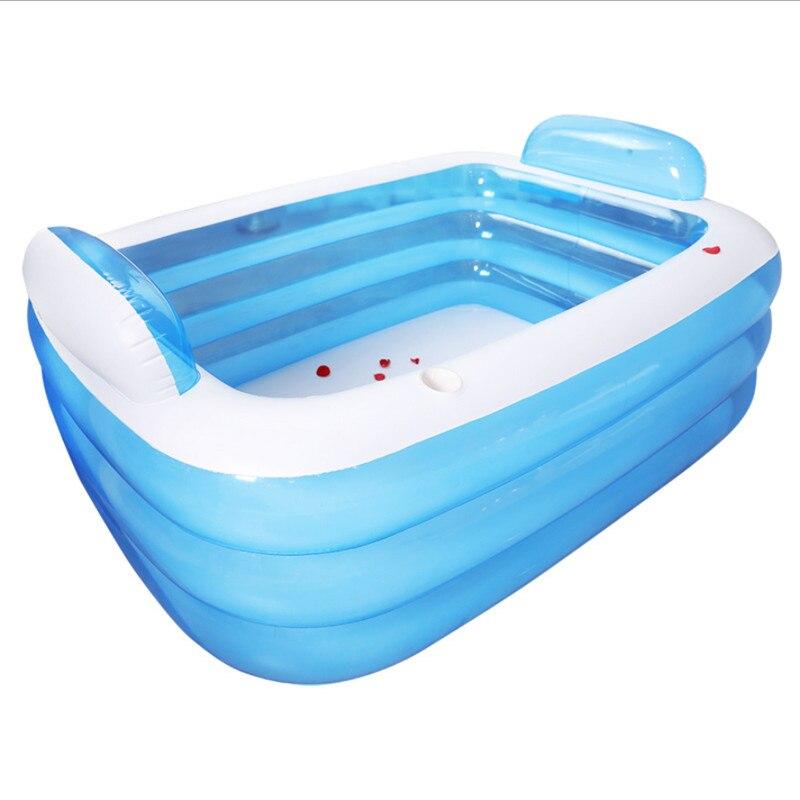 Grande baignoire gonflable Double adultes Portable baignoire en plastique bain à remous PVC baignoire gonflable pliante baignoire Spa