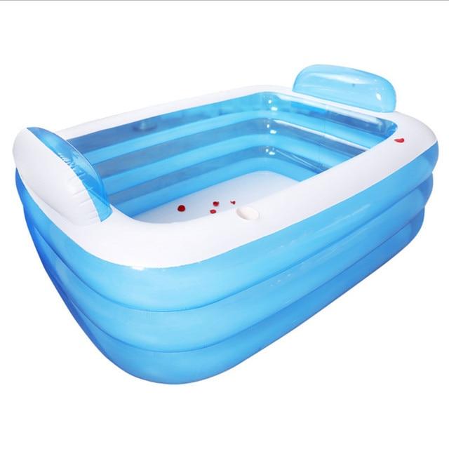 Gentil Large Inflatable Bath Tub Double Adults Portable Plastic Bathtub Hot Tub  PVC Inflatable Bathtub Folding Spa