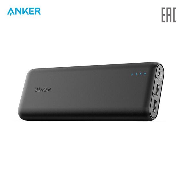 Внешний аккумулятор Anker PowerCore External Battery 20100mAh usb microUSB, портативное зарядное устройство , официальная гарантия, быстрая доставка