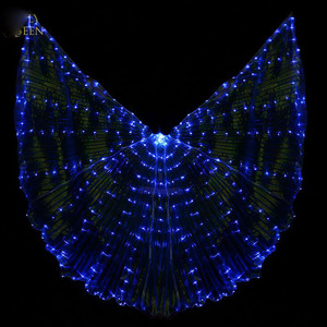 Image 2 - Hot Selling Bellydancing LED Isis Wings Nice Oriental Dance Accessory LED Wings Sexy Stage Show Props Wings 5 colors