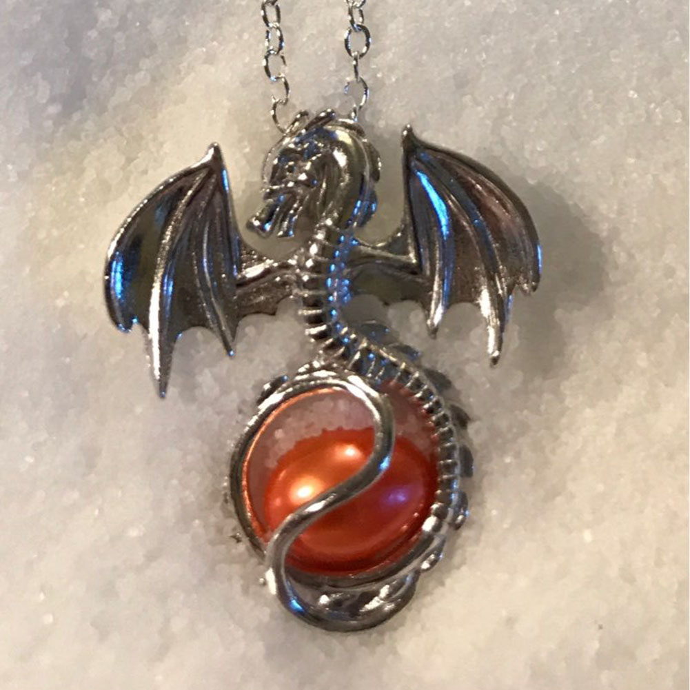Crystal Dragon Ball Pendant Necklace Natural Ball Long font b Sweater b font Necklace for women