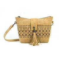 Cork women handbag vegan cork gift Studed lasercut with black background Women handbag Bag 314