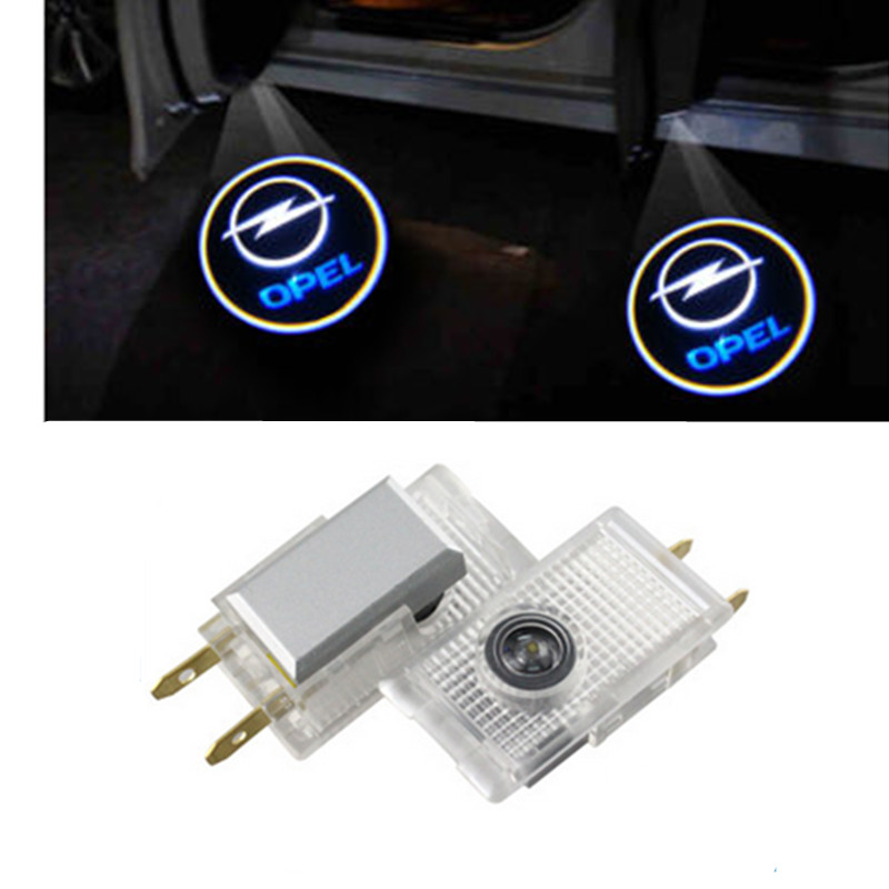 2 Pcs LED Car Door Projector Logo Emblem Laser Shadow Welcome Light For Opel Insignia The Lighting In The Door Car Styling