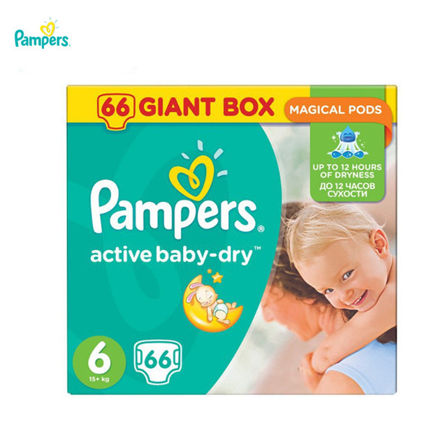 Подгузники PAMPERS Active Baby-Dry Extra Large 15 + кг Jainte Plus 66