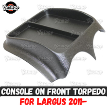 Console on front panel for Lada Largus 2011  ABS plastic organizer function pad accessories scratches car styling tuning
