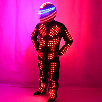 LED Costume Clothes Luminous Glowing Suits Stage Performance Clothing LED Robot Suit