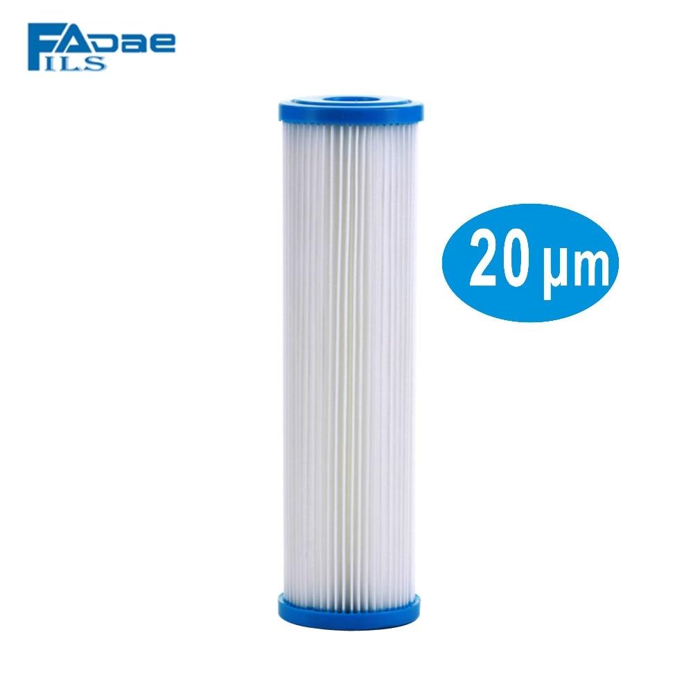 2.5x10 Polegada Compatível Plissado Cartuchos de Filtro de Água de Reposição, 20 Micron, Sujeira Filtragem de Sedimentos