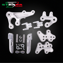 Front Foot Rests Pedal Bracket Assembly Kit For Suzuki GSXR1000 K5 2005 2006 2007 2008 2009 2010 2011 05-11 Motorcycle Parts