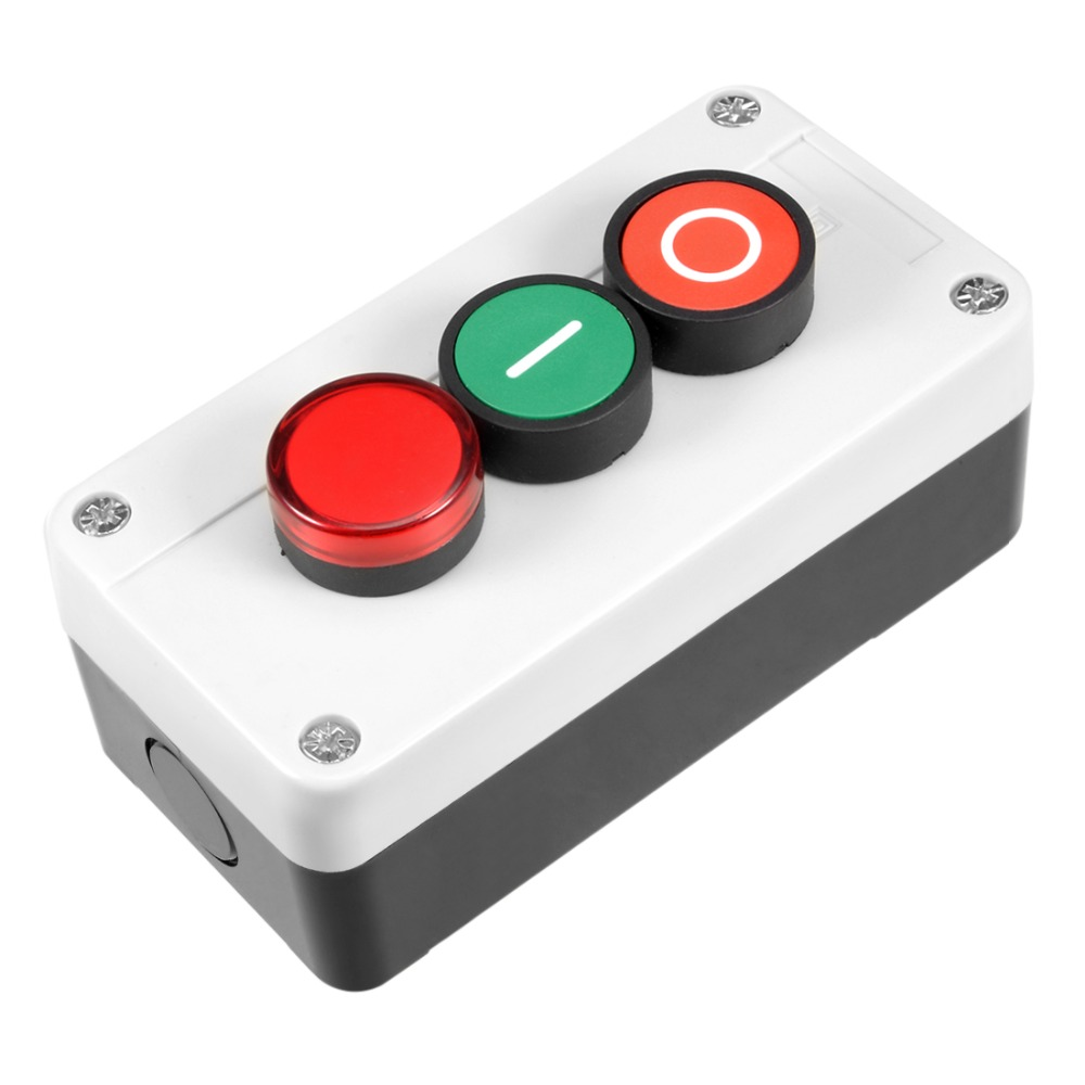 UXCELL Push Button Switch Station Momentary NC Red NO Green Red Signal 660V 10A To Control The Electromagnetic Starter ContactorUXCELL Push Button Switch Station Momentary NC Red NO Green Red Signal 660V 10A To Control The Electromagnetic Starter Contactor