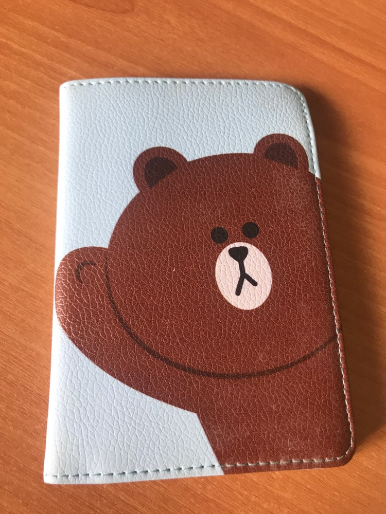 Cute Carton Animal Prints Passport Cover Male&female Leather Passport Holder Orgnaizer Cover on The Passport Case Travel Wallets photo review