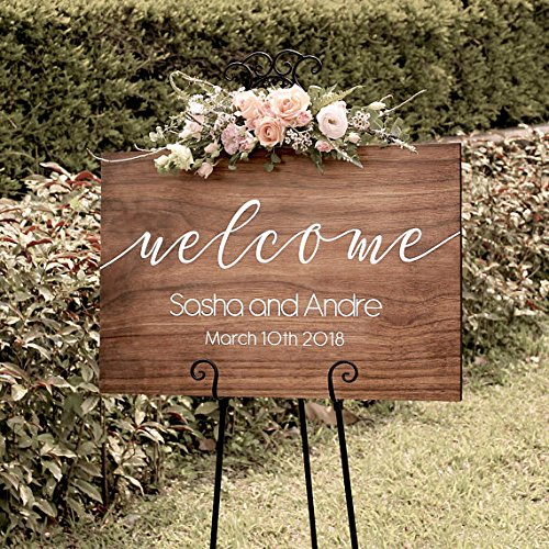 Personalized Rustic Wedding Welcome Sign Wood Wedding Sign Welcome