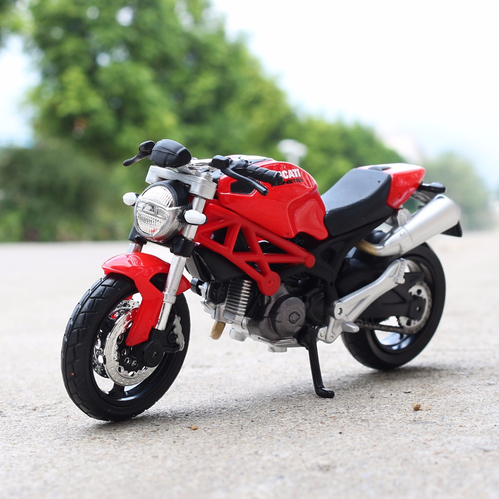 1:18 Scale Maisto DUCATI MONSTER 696 Motorbike Race Cars Mini Motorcycle Vehicle Models Office Toys Gifts for Kids
