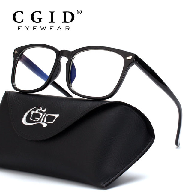 32747cbcd6 CGID Unisex Computer Glasses Blocking Blue light   100% UV Protection  Vintage Square Frame with