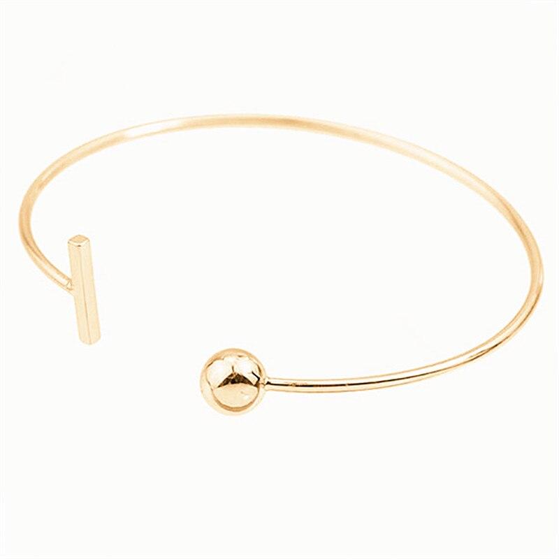 Bracelet fashion round bead opening simple geometric thin line bracelet bracelet