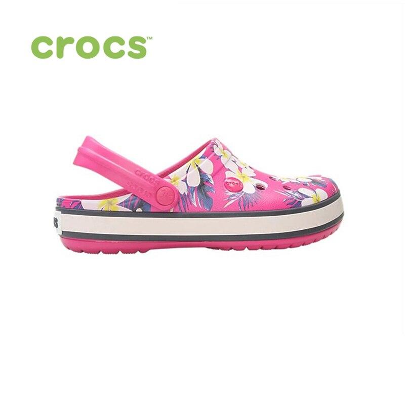 Фото - CROCS Crocband Seasonal Graphic Clog UNISEX for male, for female, man, woman сабо для девочки crocs classic seasonal graphic clog k цвет светло розовый 205620 6pi размер c9 26