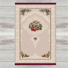 Mais Cinza Bege Rosas Flores 3d Impressão Tasseled Anti Derrapante Tapetes de Oração Muçulmano Islâmico Turco Moderno Tapete de Oração Eid Ramadan presentes