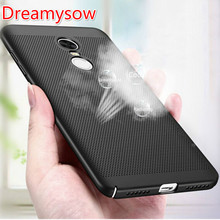 Купить с кэшбэком Heat dissipation hollow phone case for xiaomi mi 5 6 5C 5S mi5C MI5S mi5 5Splus mi6 6plus max2 5X NOTE3 hard pc back cover CASES
