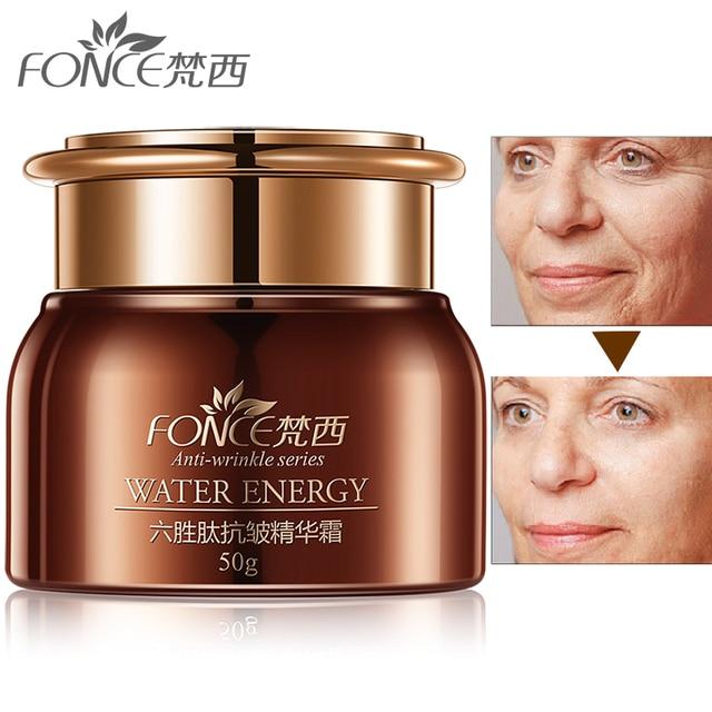 Corée Anti rides dissolvant visage crème anti âge peau sèche hydratant Lifting du visage raffermissant jour nuit crème Six Peptide sérum 50g