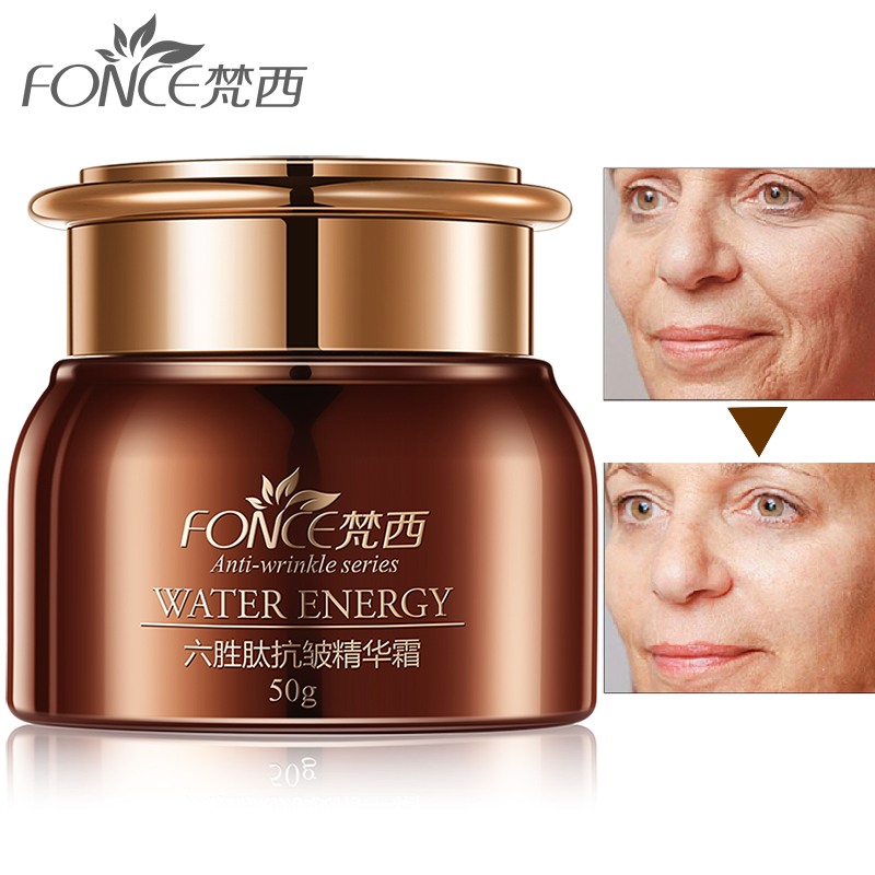 Korea Anti wrinkle Remover Face Cream anti Aging Dry Skin Hydrating Facial Lifting Firming Day Night Cream Six Peptide Serum 50g-in Facial Self Tanners & Bronzers from Beauty & Health