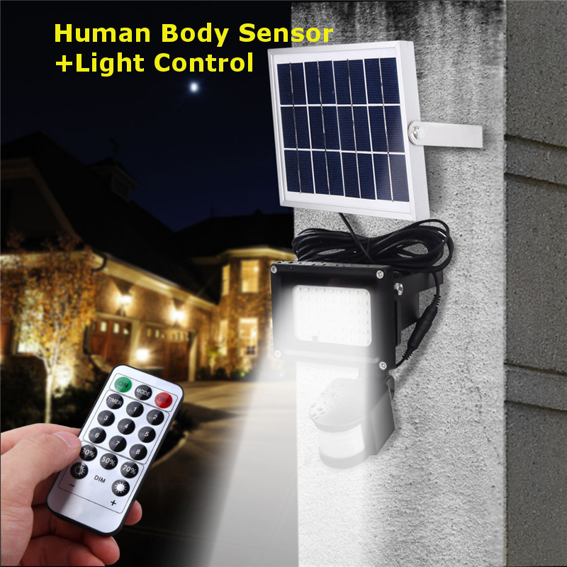 Smuxi 54 LED Solar Light 3528 SMD Sensor Outdoor Lighting Security Led Flood Light Waterproof Manual Control Light Control Mode horizontal card rise magic tricks stage card accessory gimmick props mentalism classic toys