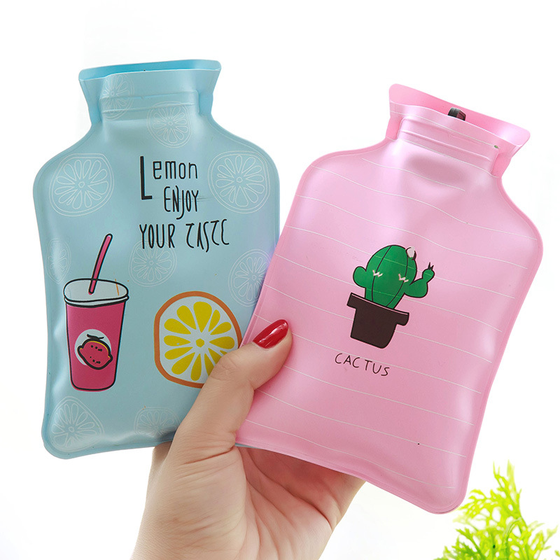 1597 Small Fresh Water Injection Explosion-proof Hot Water Bag Children Students Warm Hand Treasure Cartoon Mini Warm Handbag