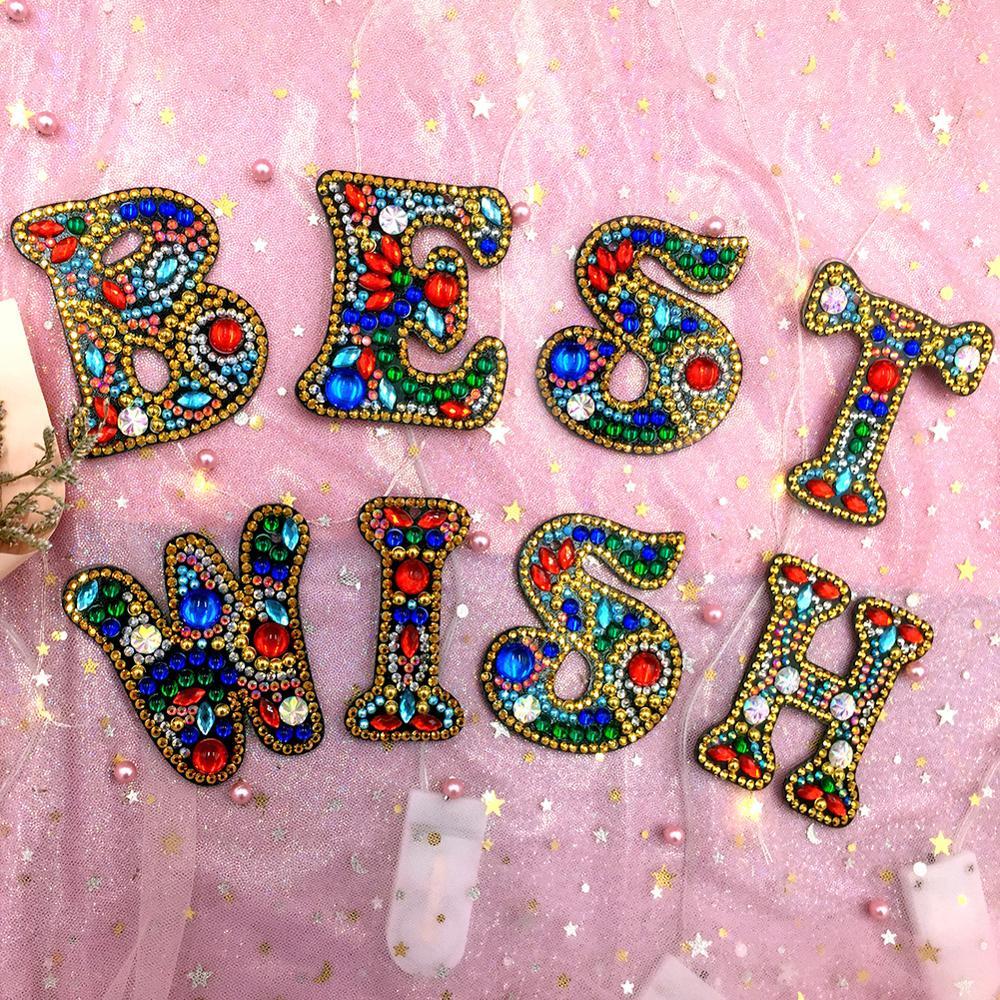 47 Types Diamond Painting Keychain Handmade Pendant Key Ring Craft Decor Gift
