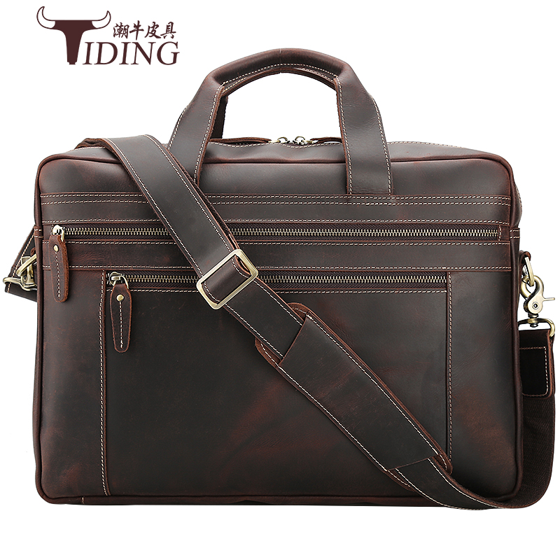 17 Laptop Travel Bags Cow Leather Mens Briefcase Brown Business Large Capacity Vintage Handbags Portfolio Office Shoulder Bags17 Laptop Travel Bags Cow Leather Mens Briefcase Brown Business Large Capacity Vintage Handbags Portfolio Office Shoulder Bags