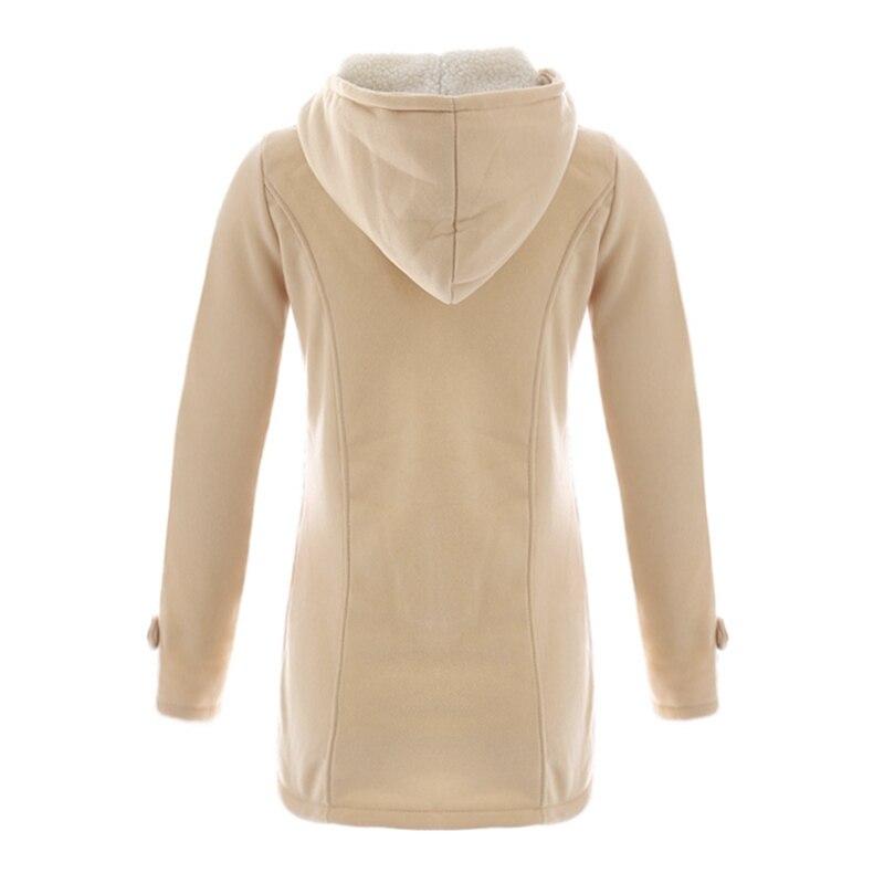 UTB8MaiXDgQydeJk43PUq6AyQpXaM Women Causal Coat 2018 New Spring Autumn Women Overcoat Hooded Coat Zipper  Button Outwear Jacket Casaco Feminino Plus Sizes