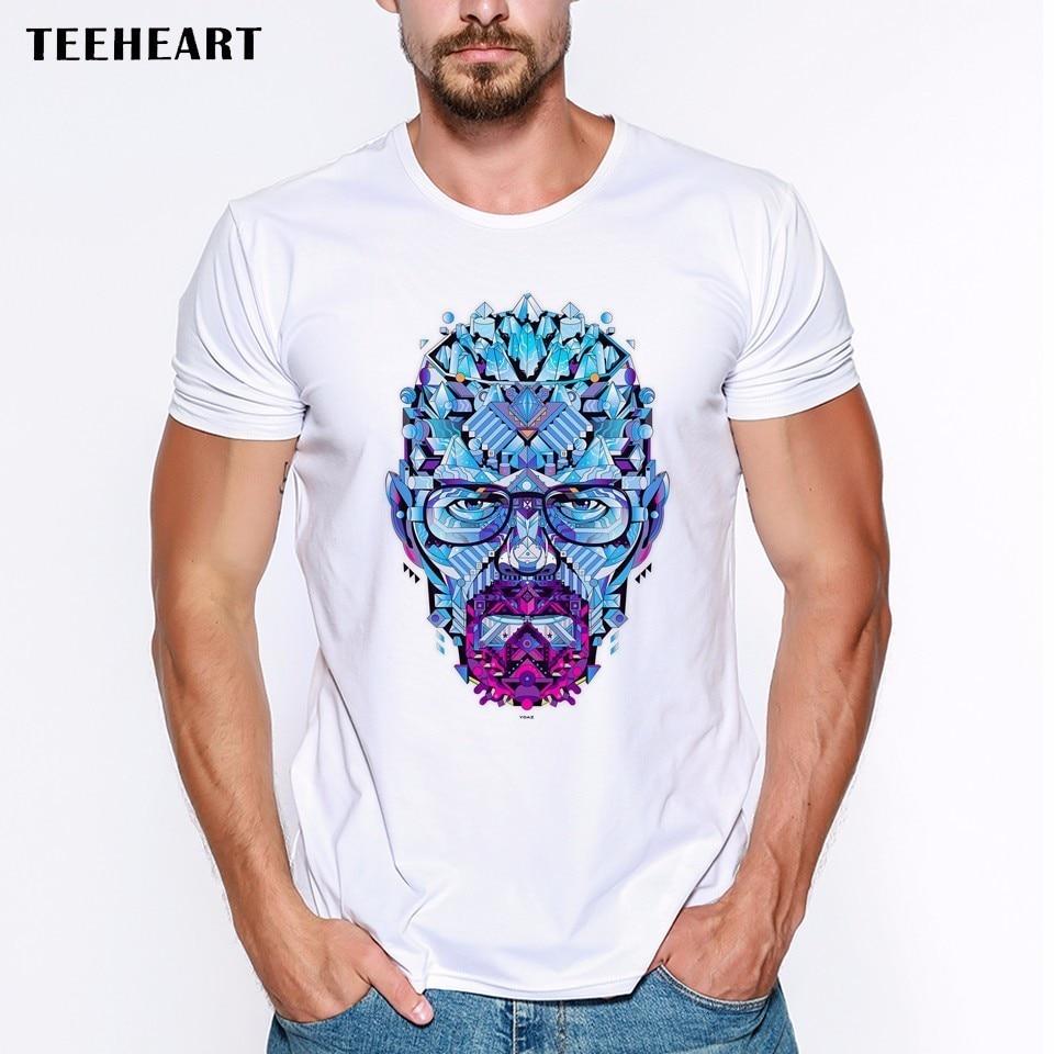 Gt86 design t shirts men s t shirt - 2017 Latest Men S Fashion Art Design Heisenberg Printing T Shirt Hot Sale Breaking Bad Tee Shirts Hipster Cool Tops