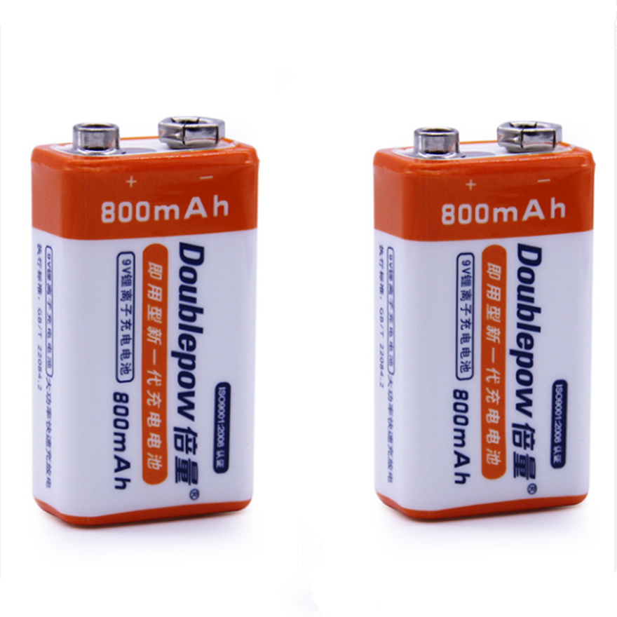 2pcs Lot Hot Selling 800mah Lithium Ion 9v Rechargeable Battery
