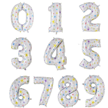40 inches white Number Foil Balloons Dig
