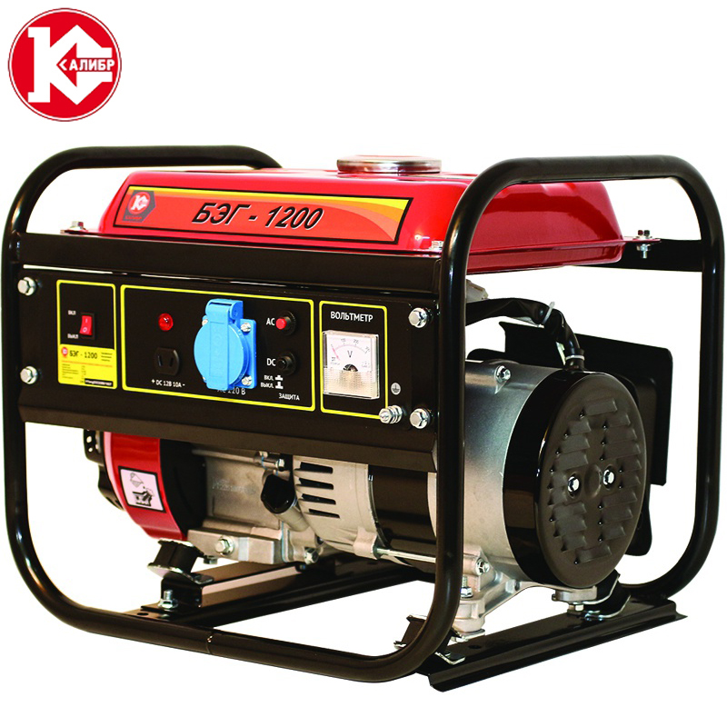 Kalibr BEG-1200 Gasoline Gas Generator Powerful Engine 1.2 kW free shipping dse7220 engine generator controller module auto start control suit for any diesel generator