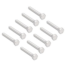 UXCELL 10Pcs Bolts 1/4-20x1-3/4 304 Stainless Steel Hex Head Screw Fastener Office Appliance Communication Equipment