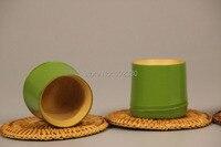 20 шт. Японский Стиль Зеленый Бамбук Разделе Чай Воды Кубок Пива Drinkware Чай Церемонии Посуда Экологически Чистые
