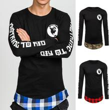 Black Men High Collar Long-sleeved Fake Two Piece Wool Blend Knitted Sweater