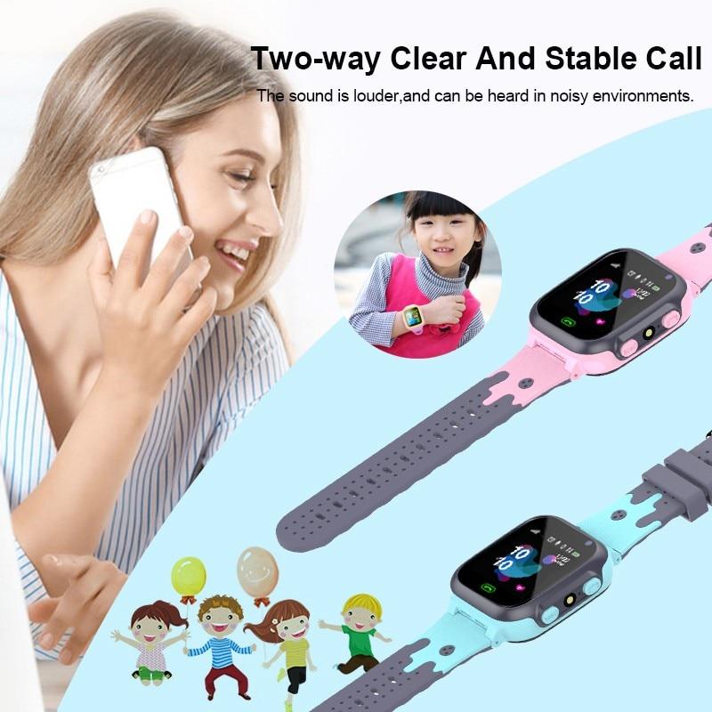 Kids Horloges Call Kinderen Slimme Horloge Voor Kinderen Sos Waterdichte Smartwatch Klok Sim-kaart Locatie Tracker Kind Horloge Jongen Meisjes 4