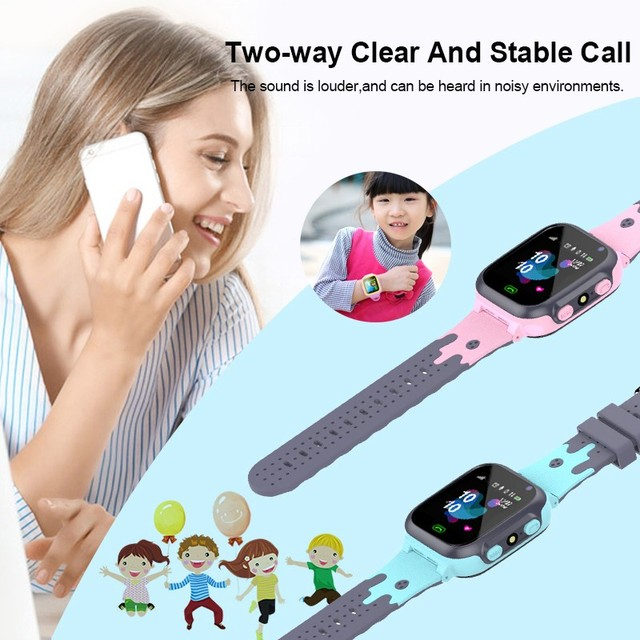 kids watches call Kids Smart Watch for children SOS Waterproof Smartwatch Clock SIM Card Location Tracker child watch boy girls 4