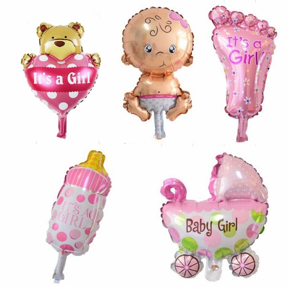 5PCS Mini Kids Set Globos Baby Shower Foil Globos para la 1ra fiesta - Para fiestas y celebraciones