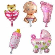 5PCS Mini dětské sady Balóny Baby Sprchové fólie Balony pro 1. narozeniny Party Happy Birthday Boys Girls Balloons Decorations (