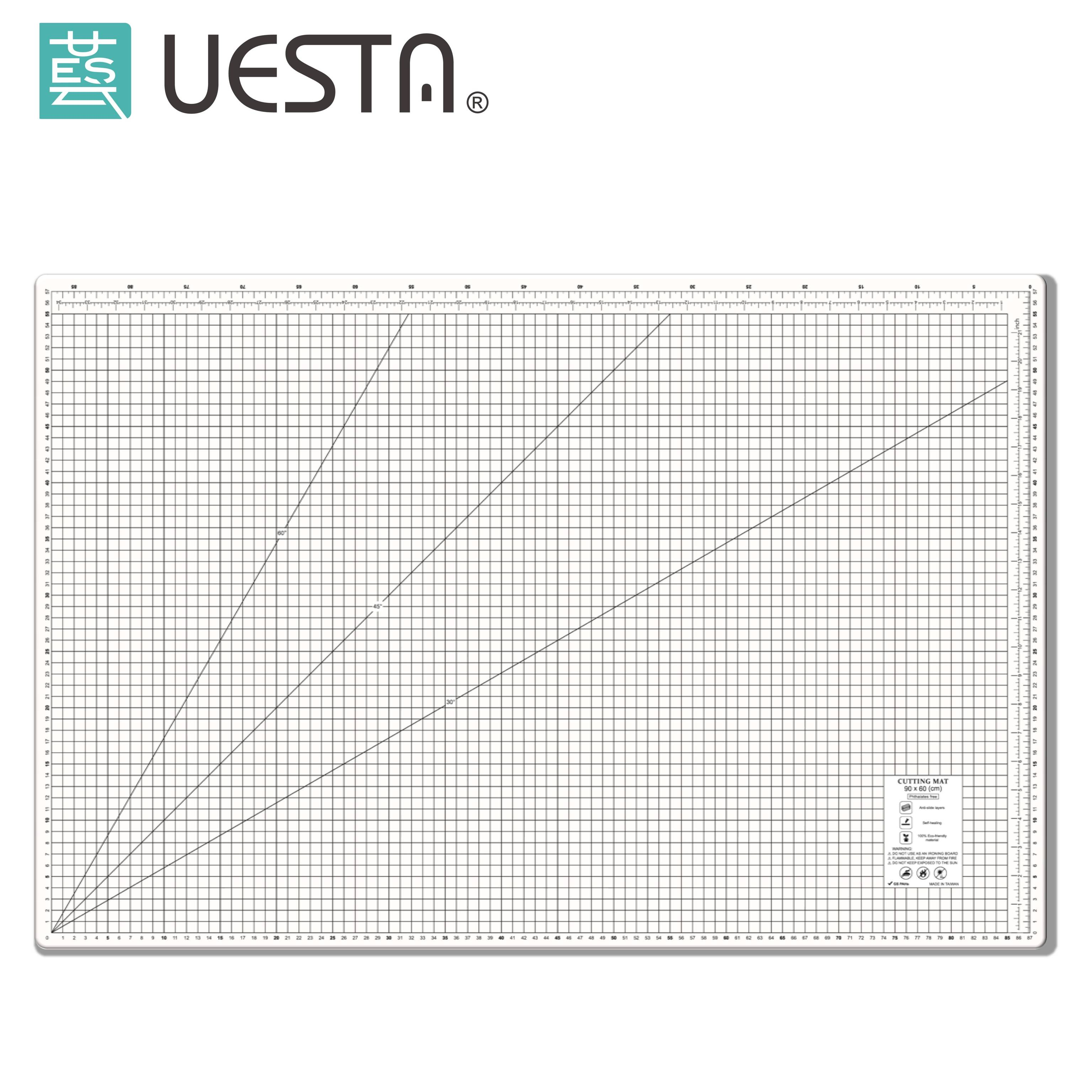 PP A1 White Cutting Mat 36 x24 Multipurpose Self Healing Cutting Mats for Quilting 3 Ply