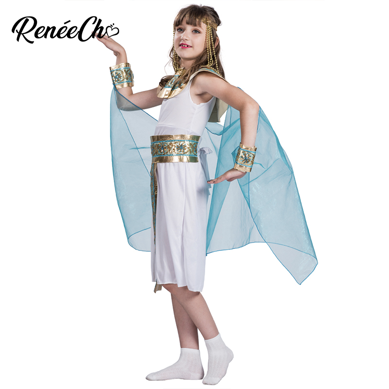 Halloween Costume For Kids All Powerful Girls Cleopatra Costume Child Egyptian Queen Goddess Cosplay For Carnival Party Buy At The Price Of 18 62 In Aliexpress Com Imall Com