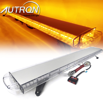 """55"""" Inch 104W LED Strobe Light Bar Warning Emergency Beacon Roof Top Flashing Truck Tow Wrecker Response Signal Security Autron"""