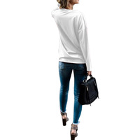2017 Autumn Women Crew Neck Long Sleeve Blouses Blusas Floral Print Loose Shirts Lace Up Hem