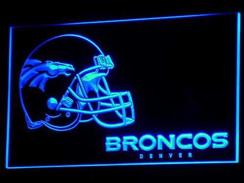 b318 Denver Broncos Helmet Bar Pub NR LED Neon Sign with On/Off Switch 7 Colors 4 Sizes to choose