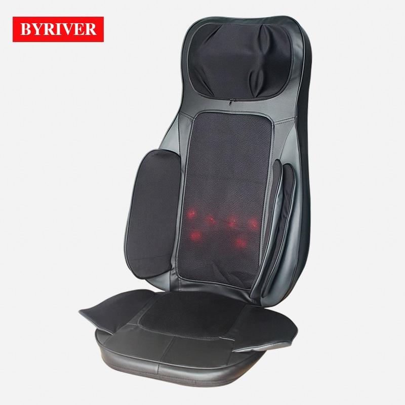 BYRIVER électrique 3D Airbag Mini fauteuil de Massage coussin Portable Shiatsu masseur complet du corps garantie 1 an