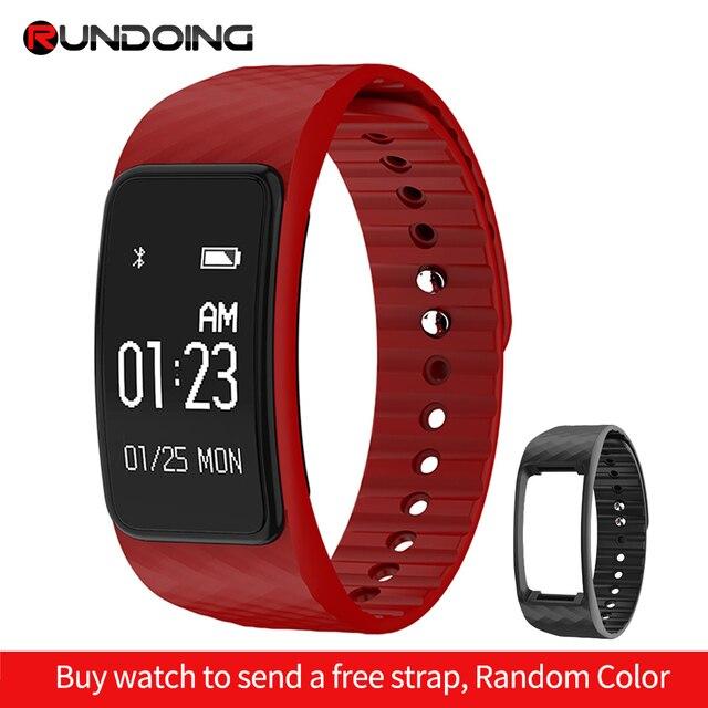 RUNDOING N101 pulsera inteligente Monitor de ritmo cardíaco pulsera inteligente IP67 impermeable rastreador de ejercicios inteligente banda smartband