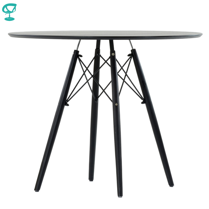T8Sp80Black Barneo T-8 Interior de chapa Mesa Bar muebles de cocina de mesa  de comedor color negro ...