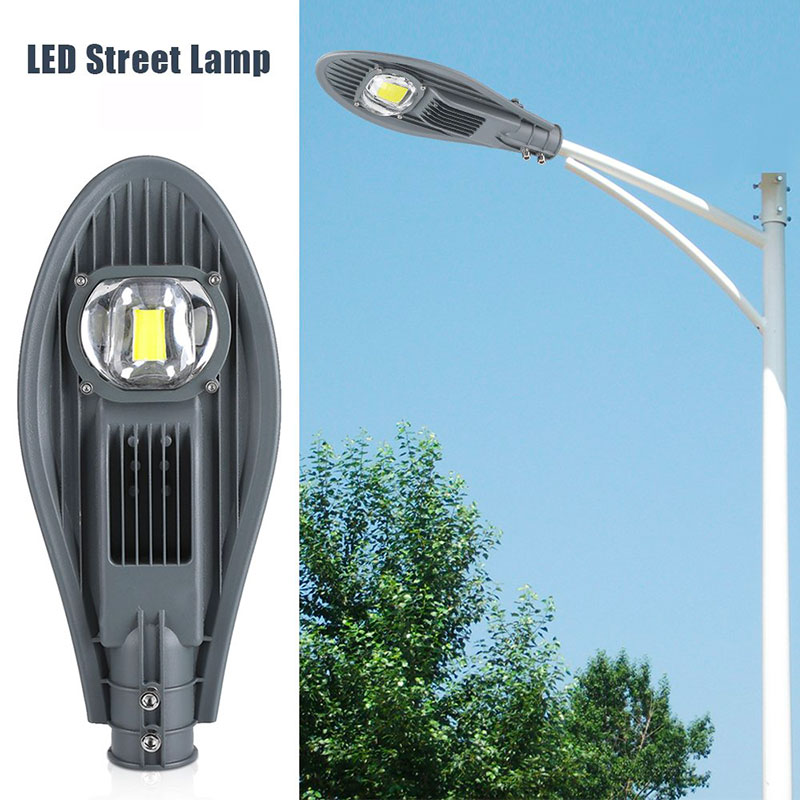 30W/50W LED Street Light IP65 Waterproof Outdoor Garden Yard Lamp Plaza Landscape Pole Light Spotlights Wall Lamp